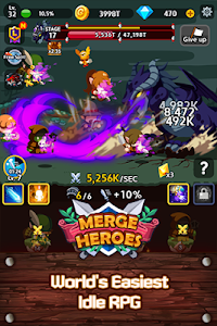 screenshot of Merge Heroes Frontier: Casual RPG Online version 1.12.8