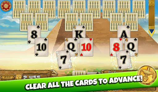 screenshot of 3 Pyramid Tripeaks Solitaire - Free Card Game version 1.41