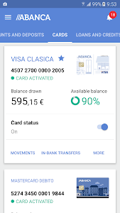 screenshot of ABANCA- Banca Móvil version Varies with device