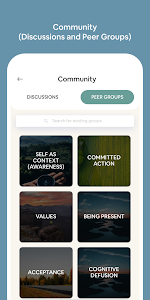 screenshot of ACT iCoach: Acceptance Commitment Therapy App version 2.0.0