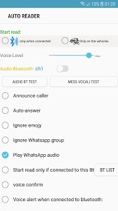 screenshot of Voice Reader and Reply Messages version 4.3.1