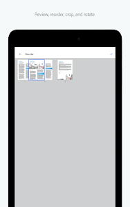 screenshot of Adobe Scan: PDF & Business Card Scanner with OCR version 19.02.14