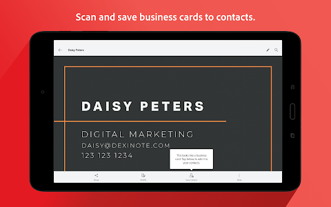 screenshot of Adobe Scan: PDF & Business Card Scanner with OCR version Varies with device