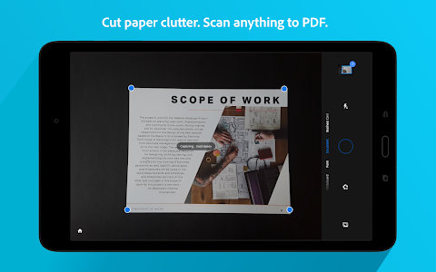 screenshot of Adobe Scan: PDF & Business Card Scanner with OCR version 19.07.25