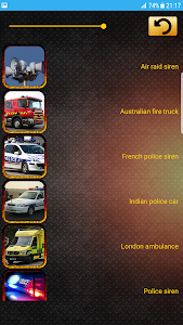 screenshot of Alarm and Sirens Sounds version 1.0