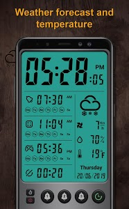 screenshot of Alarm clock and weather forecast, stopwatch version 7.5.1
