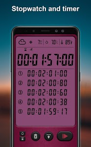 screenshot of Alarm clock and weather forecast , stopwatch version 9.0.7