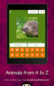 screenshot of Animals from A to Z version 3.1.8z