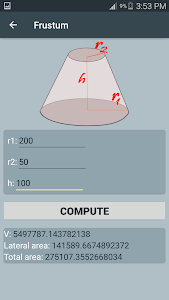 screenshot of Area and Volume calculator-2D & 3D shapes version 1.0