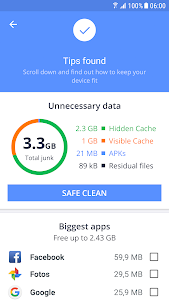 screenshot of Avast Cleaner - RAM Booster, Storage Optimizer version Varies with device