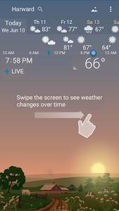 screenshot of Awesome Weather YoWindow - Live Wallpaper, Widgets version Varies with device