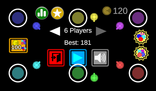 screenshot of 1-6 Player Ballz Fortress: local multiplayer game version 1.8.2
