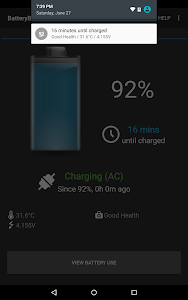 screenshot of BatteryBot Battery Indicator version Varies with device