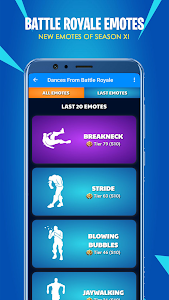 screenshot of Battle Royale Emotes 【 Season 11 】 version 2.3