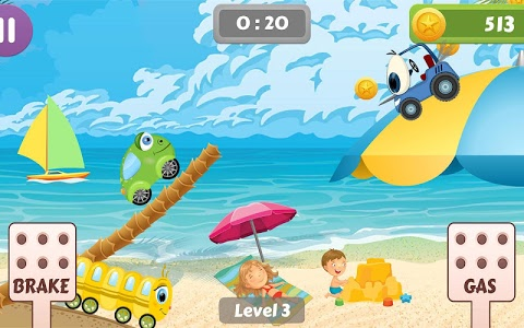 screenshot of Beepzz Hill - racing game for kids version 1.0.7
