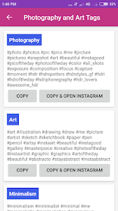 screenshot of Best Hashtags | Tags Lookup version 4.0