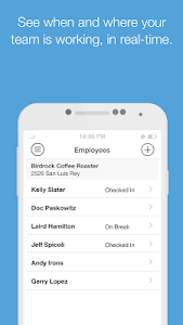 screenshot of Boomr - Employee Time Clock version 1.9.2.100