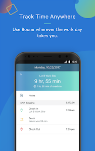 screenshot of Boomr - Employee Time Clock version Varies with device