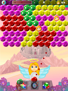 screenshot of Bubble Shooter - Baby Angel Rescue version 1.4.10