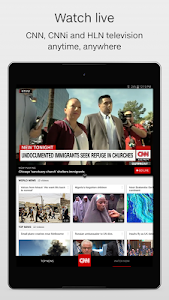 screenshot of CNN Breaking US & World News version 2.8.2