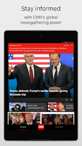 screenshot of CNN Breaking US & World News version Varies with device