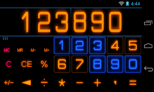 screenshot of Calculator with Percent (Free) version 32.1