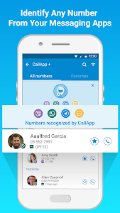 screenshot of CallApp: Caller ID, Call Blocker & Call Recorder version Varies with device