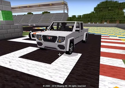 screenshot of Cars for Minecraft PE Mod version 1.4.20