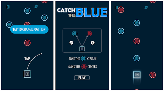 screenshot of Catch The Blue version 1.0.0