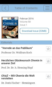 screenshot of Chemie in unserer Zeit version 1.0.2132