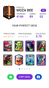 screenshot of Perfect Deck Finder for Clash Royale version 1.7