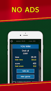 screenshot of Classic Solitaire Klondike - No Ads! Totally Free! version 1.91