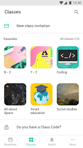 screenshot of Classting version Varies with device