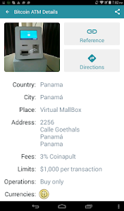 screenshot of Bitcoin ATM Map – CoinATMRadar version 2.0.5