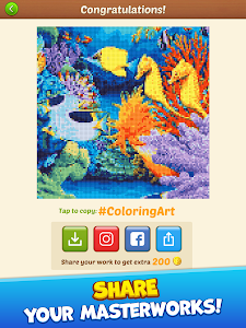 screenshot of Cross Stitch: Coloring Art version 0.9.363