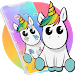 Cute Colorful Cartoon Unicorn Theme