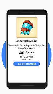 screenshot of Daily Free spin and coins:New links & tips version 1.1