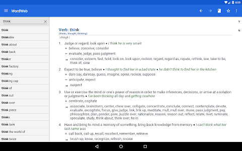 screenshot of Dictionary - WordWeb version Varies with device