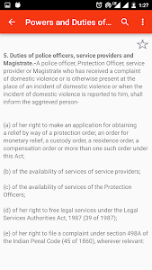screenshot of Domestic Violence Act, 2005 version 1.0