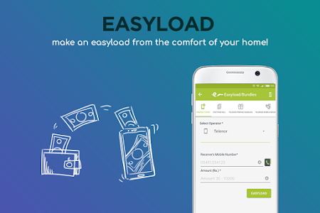 screenshot of Easypaisa version 3.5.0.48