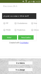 screenshot of Elecciones España 26M version 1.11