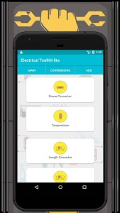 screenshot of Electrical ToolKit lite version 1.2.3