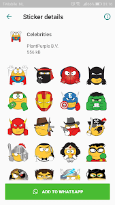 screenshot of Emojidom stickers for WhatsApp free -WAStickerApps version 2.11
