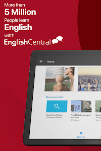 screenshot of EnglishCentral - Learn English version 4.4.3