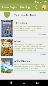 screenshot of English Story with audios - Audio Book version 3.1.3