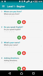 screenshot of English conversation daily version 1.1.7