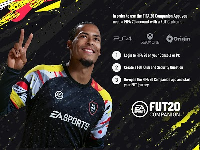 screenshot of EA SPORTS™ FIFA 20 Companion version 20.0.0.184055