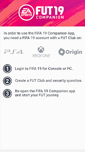screenshot of EA SPORTS™ FIFA 19 Companion version 19.0.0.178044