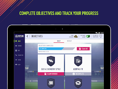 screenshot of EA SPORTS™ FIFA 18 Companion version 18.0.5.172734