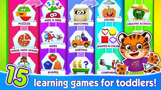 screenshot of FUNNY FOOD 2! Educational Games for Kids Toddlers! version 1.5.0.61